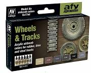 Farby Vallejo Zestaw 71213 Wheels and Tracks (6x17ml)