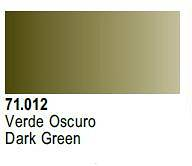 Farba Vallejo Model Air  71012 Dark Green 17ml